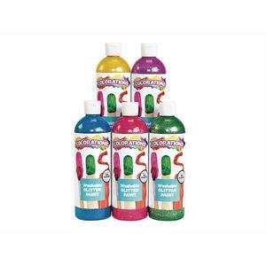Colorations Washable Glitter Paint 16 oz. Jewel Colors 5-Pack
