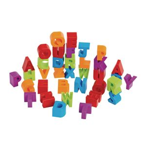 Stacking Alphabet Letter Blocks and Dough Cutters - Uppercase, 36 Pieces