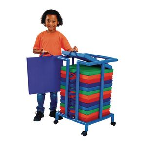 Environments® Indoor/Outdoor Sit-Upon Set of 15 with Mobile Storage Cart