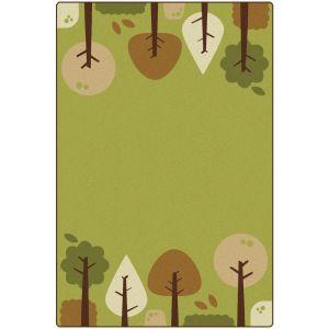 Tranquil Trees Green Carpet - 4' x 6'