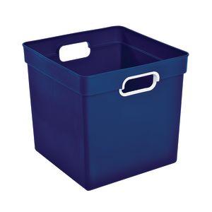 Cube Storage Bin Blue
