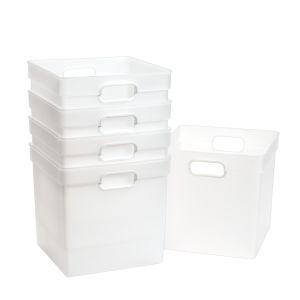 Cube Storage Bin Clear
