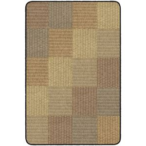 Basket Weave Blocks Carpet 3' x 5'