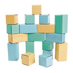 Toddler Cardboard Building Bricks Set of 18