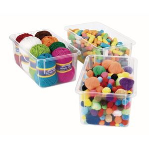 Ultra-Clear Storage Bins Set of 10