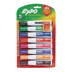 Expo® Chisel-tip Dry-Erase & Eraser Set of 8