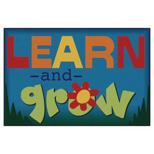 "Learn & Grow 3' x 4'6"" Rectangle Kids Value Carpet"