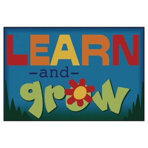 Learn & Grow 4' x 6' Rectangle Kids Value Carpet
