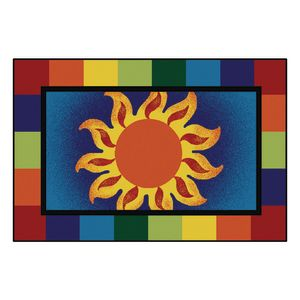 Sunny Day 4' x 6' Rectangle Kids Value Carpet