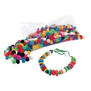 Colorations® Fluffy Pom-Pom Beads Pack of 500