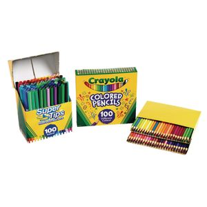 Crayola® 100 Marker/100 Colored Pencil Kit