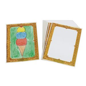 Gold Frame Watercolor Paper 9