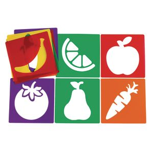 Colorations® Fruit & Vegetable Stencils Set of 12
