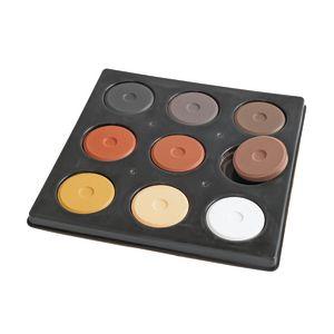 9 Color Multicultural Mini Tempera Cake
