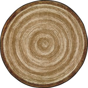 "Natural Wood-Look Carpet, Sand - 7'7""dia. Round"