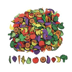 Colorations® Self-Adhesive Fruit & Veggie Foam 500 pieces