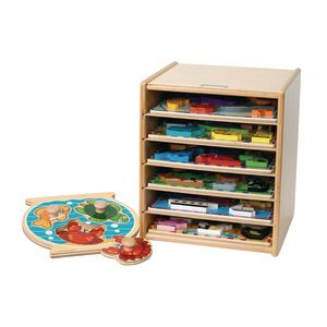 Large-Knob Wooden Puzzle Case