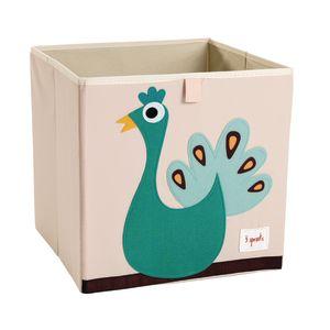 Infant/Toddler Animal Storage Bin Peacock Design