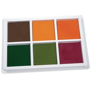 Colorations® Jumbo Washable Classroom Stamp Pad, 6 Colors