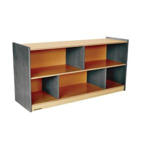 "Environments® 24"" Forest Wood Divided Shelf Gray"