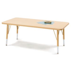 "30"" x 48"" Berries® Maple Prism Activity Table - Rectangle, 24"" - 31"" high"