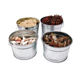 Galvanized Steel Pail Set of 4