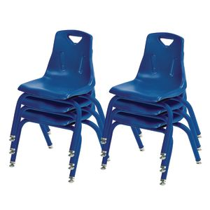 "12"" Berries® Stacking Chairs with Matching Legs, Blue - Set of 6"