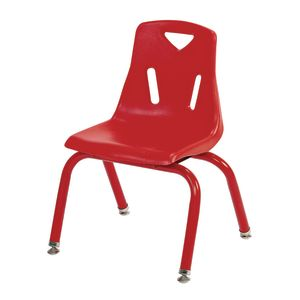"12"" Berries® Stacking Chairs with Matching Legs, Red - Set of 6"