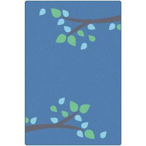 Branching Out Carpet - Blue 6' x 9'