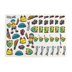 Armor of God Shape Stickers 120 Stickers