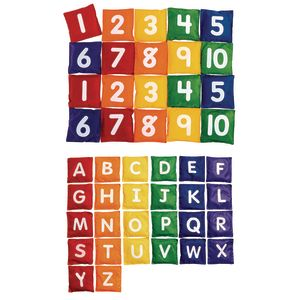 Excellerations® Numbers and Letters Bean Bag Set of 46