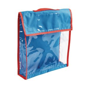 Fabric Pouch with Clear Front Panel
