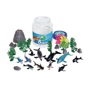 Ocean Animal Bucket Set of 33 Pieces