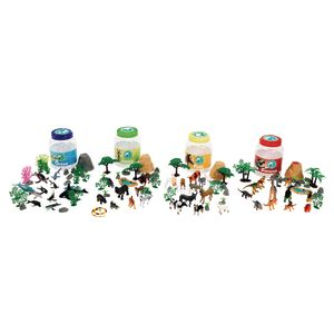 Animal Bucket Playset 126 Pieces Set of All 4
