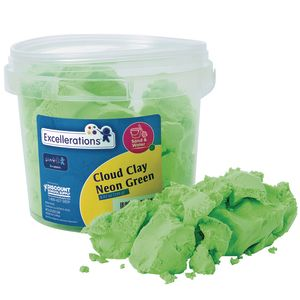 Excellerations® Cloud Clay- Neon Green