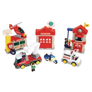 Lights & Sound Fire Department Playset