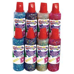 Colorations® Confetti Glitter Goo Rollers Set of 8