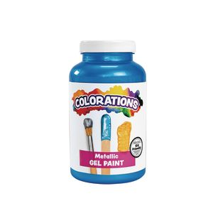 Colorations® Metallic Gel Paint, Blue - 16 oz.
