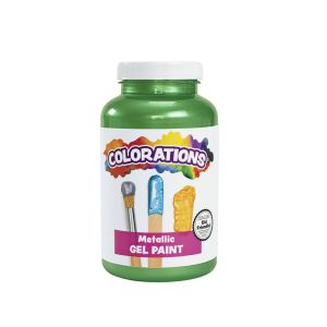 Colorations® Metallic Gel Paint, Green - 16 oz.