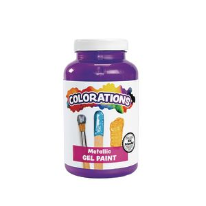Colorations Metallic Gel Paint 16OZ VIO