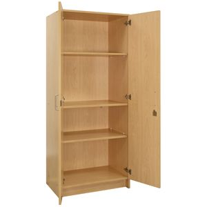 Locking Tall Laminate Storage - Maple/Maple, Ready to Assemble