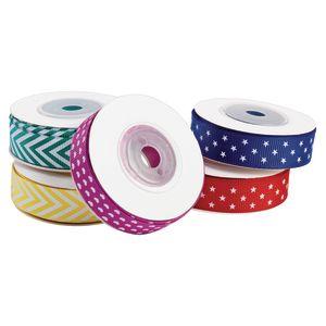 Fun Patterned Grosgrain Ribbon Set of 5