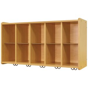 10-Cubbie Wall Locker - Maple/Maple, Assembly Required
