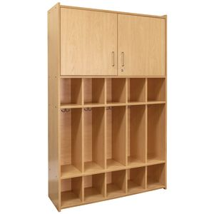 Dual Purpose Student Locker - Maple/Maple, Assembled