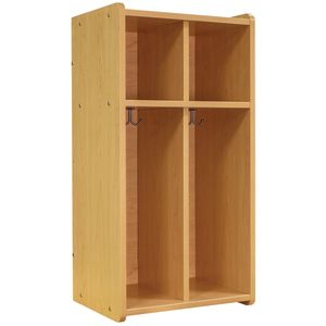 Tot Mate® 2-Section Locker - Maple/Maple, Assembled