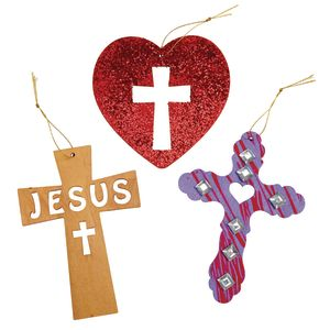 Hanging Wooden Cross Scenes 12 Pieces