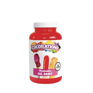 Colorations® Washable Gel Paint, Red - 16 oz.