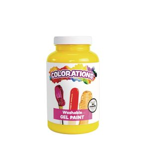 Colorations® Washable Gel Paint, Yellow - 16 oz.