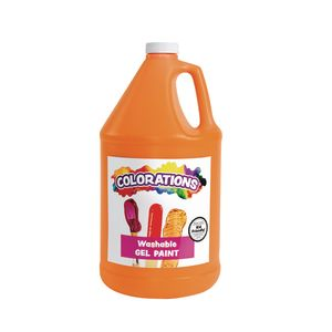 Colorations® Washable Gel Paint Gallon, Orange