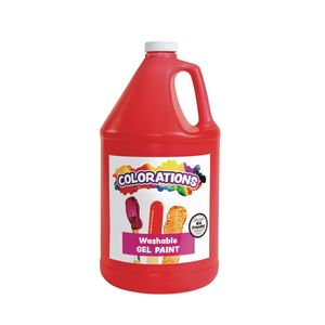 Colorations® Washable Gel Paint Gallon, Red